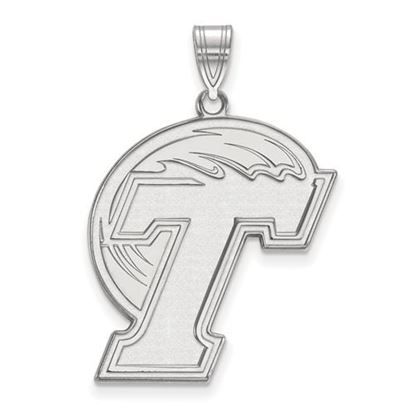 Picture of Tulane University Green Wave 10k White Gold Extra Large Pendant