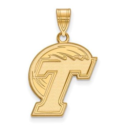 Picture of Tulane University Green Wave 10k Yellow Gold Large Pendant