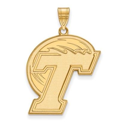 Picture of Tulane University Green Wave Sterling Silver Gold Plated Extra Large Pendant