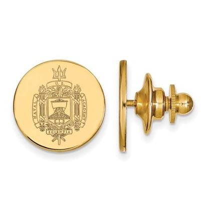 Picture of U.S. Naval Academy Midshipmen 14k Yellow Gold Crest Lapel Pin