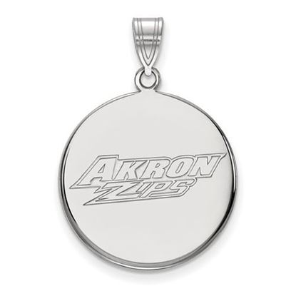 Picture of University of Akron Zips 10k White Gold Large Disc Pendant