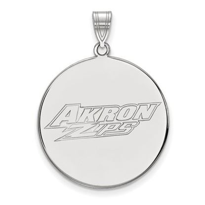 Picture of University of Akron Zips 14k White Gold Extra Large Disc Pendant