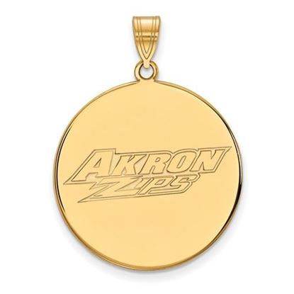 Picture of University of Akron Zips 14k Yellow Gold Extra Large Disc Pendant