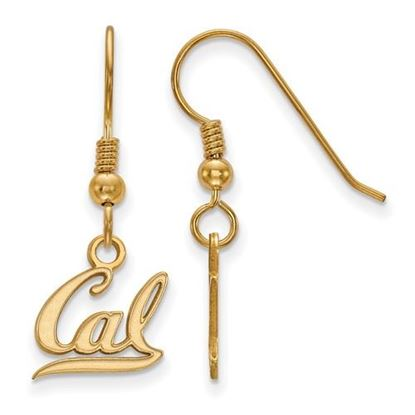 Picture of University of California Berkeley Golden Bears Sterling Silver Gold Plated Extra Small Dangle Earrings