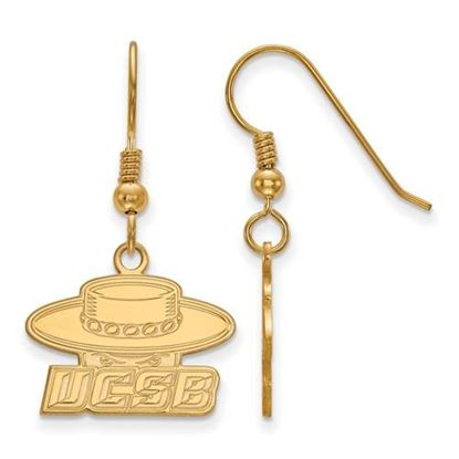 Picture of University of California Santa Barbara Gauchos Sterling Silver Gold Plated Small Dangle Earrings
