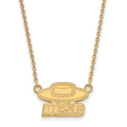 Picture of University of California Santa Barbara Gauchos 10k Yellow Gold Small Necklace