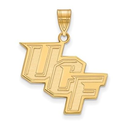 Picture of University of Central Florida Knights Sterling Silver Gold Plated Large Pendant