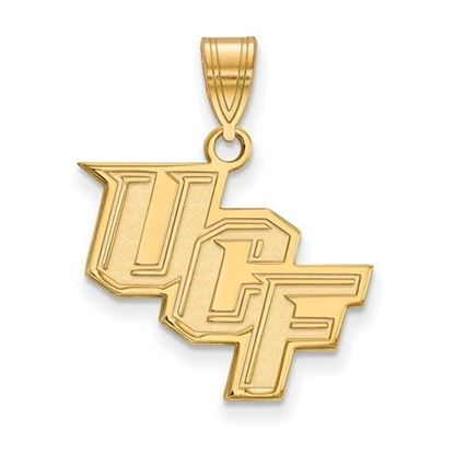 Picture of University of Central Florida Knights Sterling Silver Gold Plated Medium Pendant