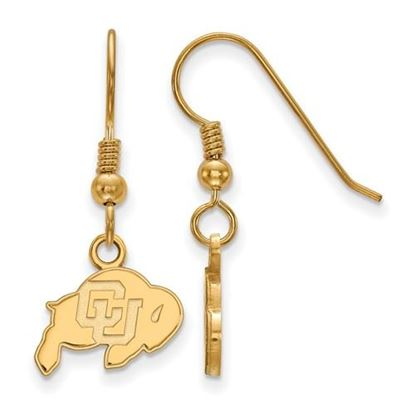 Picture of University of Colorado Buffaloes Sterling Silver Gold Plated Extra Small Dangle Earrings