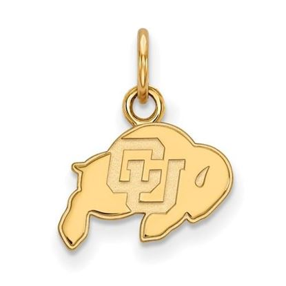Picture of University of Colorado Buffaloes Sterling Silver Gold Plated Extra Small Pendant