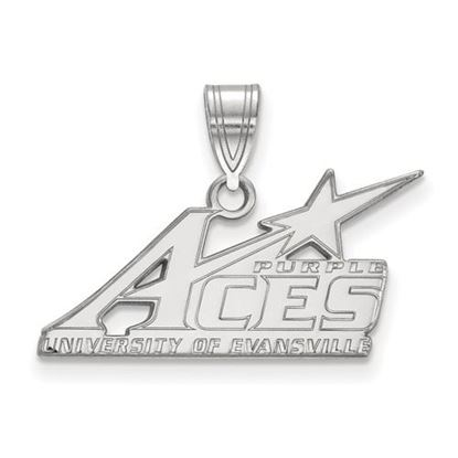 Picture of University of Evansville Purple Aces 14k White Gold Large Pendant