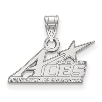 Picture of University of Evansville Purple Aces 14k White Gold Small Pendant