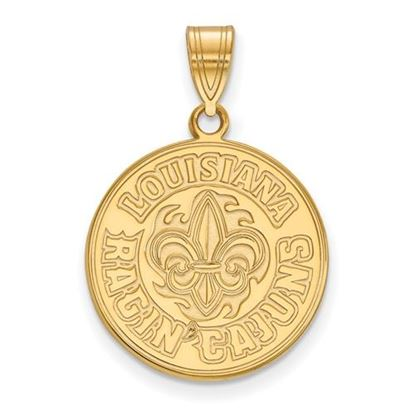 Picture of University of Louisiana at Lafayette Ragin' Cajuns 10k Yellow Gold Large Pendant