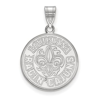 Picture of University of Louisiana at Lafayette Ragin' Cajuns 14k White Gold Large Pendant