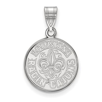 Picture of University of Louisiana at Lafayette Ragin' Cajuns 14k White Gold Medium Pendant
