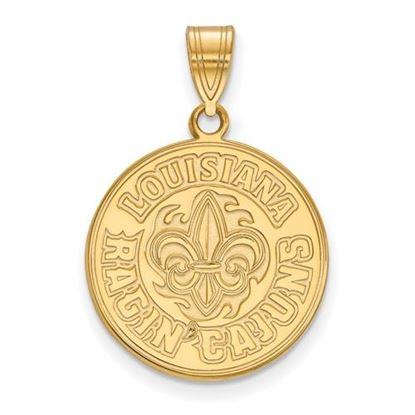 Picture of University of Louisiana at Lafayette Ragin' Cajuns 14k Yellow Gold Large Pendant