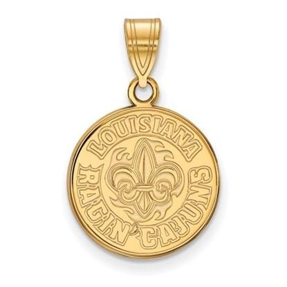 Picture of University of Louisiana at Lafayette Ragin' Cajuns Sterling Silver Gold Plated Medium Pendant