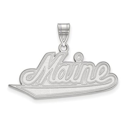 Picture of University of Maine Black Bears 14k White Gold Large Pendant