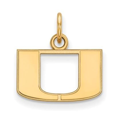 Picture of University of Miami Hurricanes Sterling Silver Gold Plated Extra Small Pendant