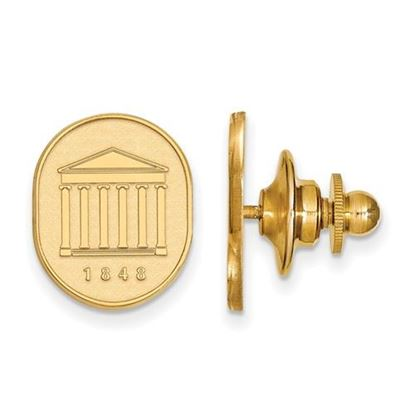 Picture of University of Mississippi Rebels 14k Yellow Gold Crest Lapel Pin