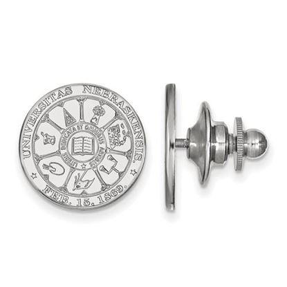 Picture of University of Nebraska Cornhuskers 14k White Gold Crest Lapel Pin