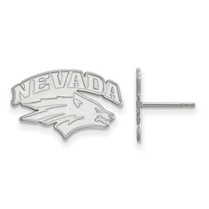 Picture of University of Nevada Wolf Pack 10k White Gold Small Post Earrings