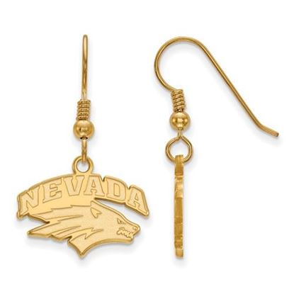 Picture of University of Nevada Wolfpack Sterling Silver Gold Plated Small Dangle Earrings