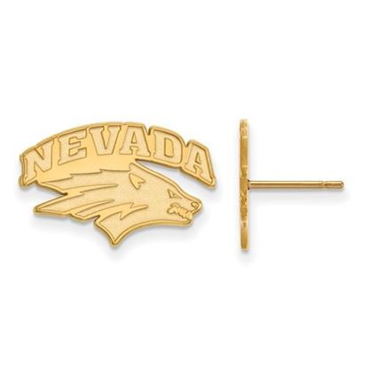 Picture of University of Nevada Wolfpack Sterling Silver Gold Plated Small Post Earrings