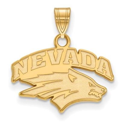 Picture of University of Nevada Wolfpack Sterling Silver Gold Plated Small Pendant