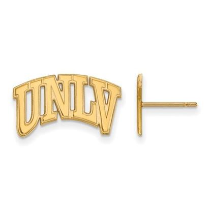 Picture of University of Nevada Las Vegas Rebels Sterling Silver Gold Plated Small Post Earrings
