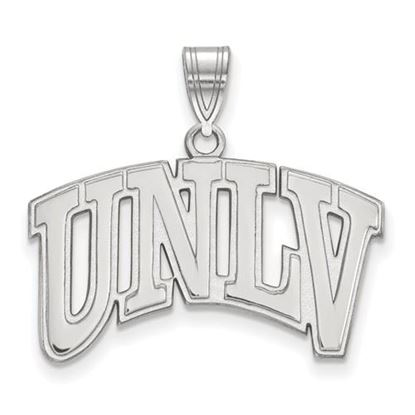 Picture of University of Nevada Las Vegas Rebels 10k White Gold Large Pendant