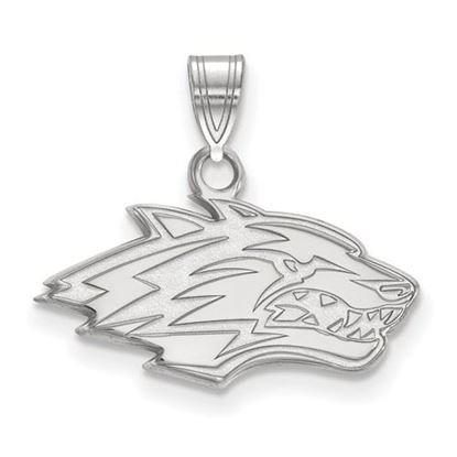 Picture of University of New Mexico Lobos 10k White Gold Small Pendant