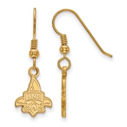 Picture of University of New Orleans Privateers Sterling Silver Gold Plated Small Dangle Earrings