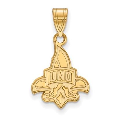 Picture of University of New Orleans Privateers Sterling Silver Gold Plated Medium Pendant