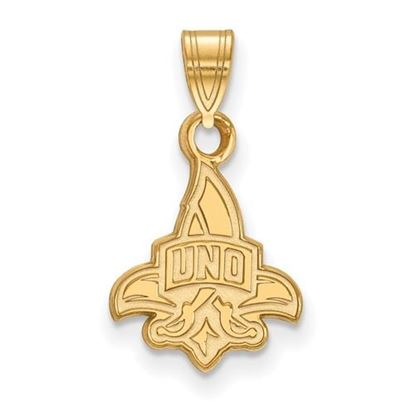 Picture of University of New Orleans Privateers Sterling Silver Gold Plated Small Pendant