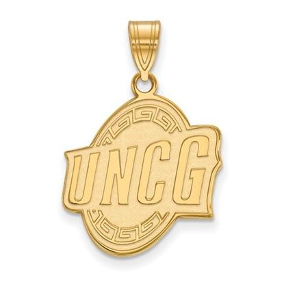 Picture of University of North Carolina at Greensboro Spartans 10k Yellow Gold Large Pendant