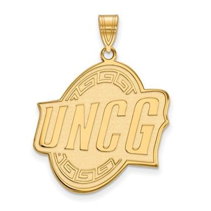 Picture of University of North Carolina at Greensboro Spartans Sterling Silver Gold Plated Extra Large Pendant