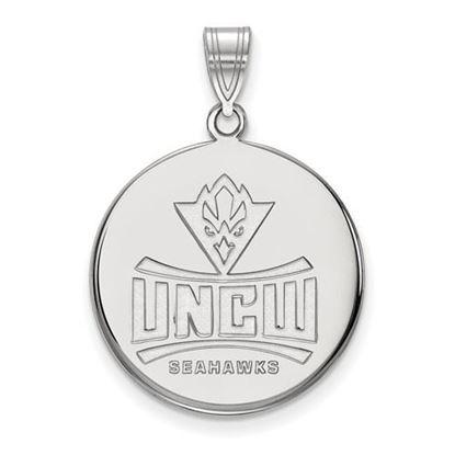 Picture of University Of North Carolina Wilmington Seahawks 10k White Gold Large Disc Pendant