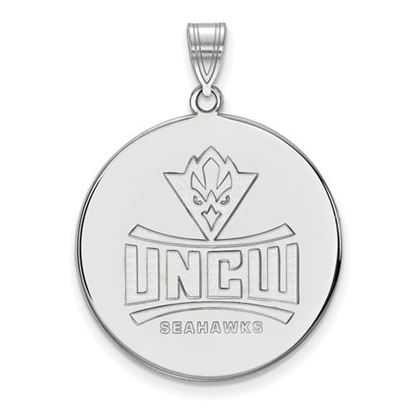 Picture of University Of North Carolina Wilmington Seahawks 14k White Gold Extra Large Disc Pendant