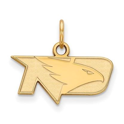 Picture of University of North Dakota Fighting Hawks Sterling Silver Gold Plated Extra Small Pendant