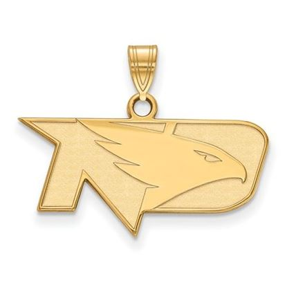 Picture of University of North Dakota Fighting Hawks Sterling Silver Gold Plated Small Pendant