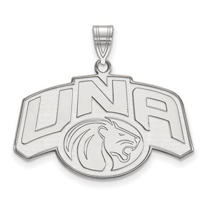 Picture of University of Northern Alabama Lions 10k White Gold Large Pendant