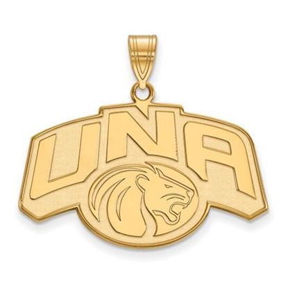 Picture of University of Northern Alabama Lions 10k Yellow Gold Large Pendant