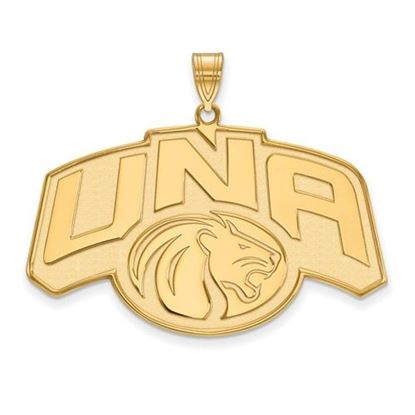 Picture of University of Northern Alabama Lions Sterling Silver Gold Plated Extra Large Pendant