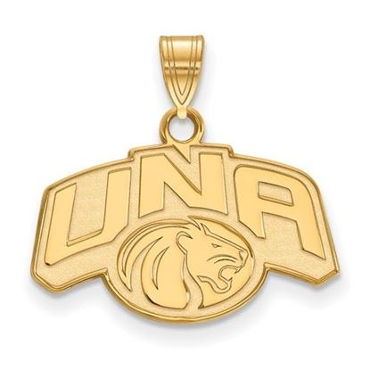 Picture of University of Northern Alabama Lions Sterling Silver Gold Plated Small Pendant