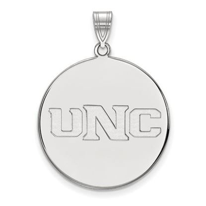 Picture of University of Northern Colorado Bears 14k White Gold Extra Large Disc Pendant