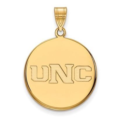 Picture of University of Northern Colorado Bears 14k Yellow Gold Large Disc Pendant
