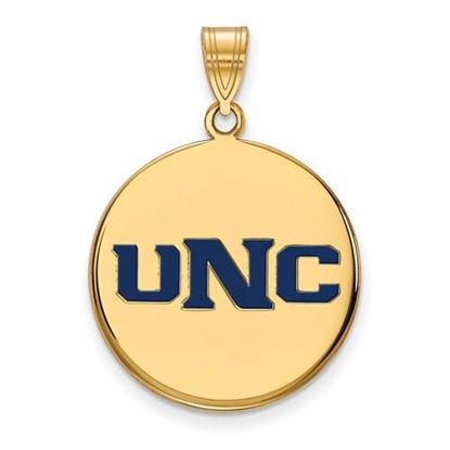 Picture of University of Northern Colorado Bears Sterling Silver Gold Plated Large Enameled Disc Pendant