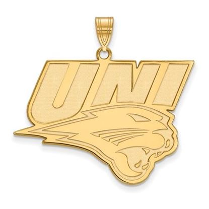 Picture of University of Northern Iowa Panthers Sterling Silver Gold Plated Extra Large Pendant
