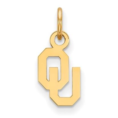 Picture of University of Oklahoma Sooners Sterling Silver Gold Plated Extra Small Pendant